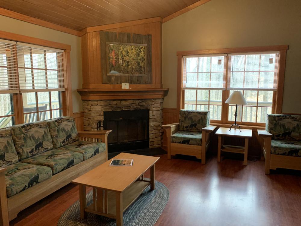 living room Bear Creek Cabin