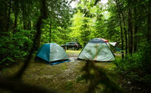 Camping with kids in rain